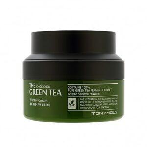 Крем для лица увлажняющий с экстрактом зелёного чая Green Tea The Chok Chok Tony Moly