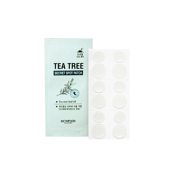Пластырь точечный от воспалений с маслом чайного дерева Tea Tree Secret Spot Patch Skinfood. BeautyBox.uz интернет-магазин косметики. Ташкент. Узбекистан