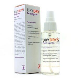 Средство против потливости ног Dry Dry Foot Spray. BeautyBox.uz. Интернет-магазин косметики. Ташкент. Узбекистан