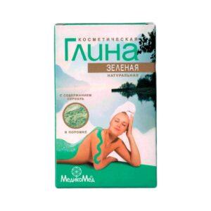 Глина для лица и волос «Зелёная» «МедикоМед»
