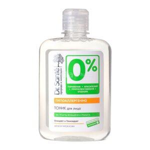 Тоник для лица освежающий с экстрактами женьшеня и граната 0% Dr.Sante