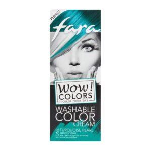 Крем для волос оттеночный смываемый тон «Бирюзовый» Wow Colors Fara