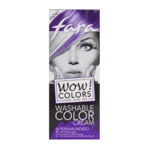 Крем для волос оттеночный смываемый тон «Чернильный» Wow Colors Fara