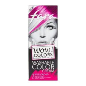 Крем для волос оттеночный смываемый тон «Малиновый» Wow Colors Fara
