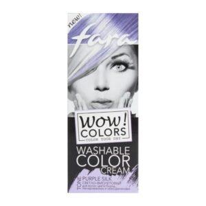 Крем для волос оттеночный смываемый тон «Светло-фиолетовый» Wow Colors Fara