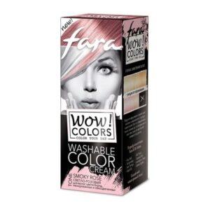 Крем для волос оттеночный смываемый тон «Светло-розовый» Wow Colors Fara