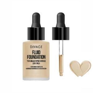 Крем-флюид для лица тональный тон №01 «Фарфоровый» Fluid Foundation Divage