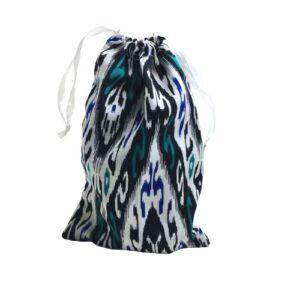 Мешочек для подарков текстильный рисунок «Икат»