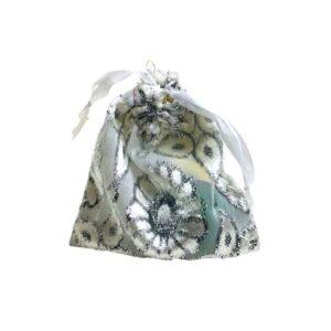 Мешочек для подарков текстильный рисунок «Серебро» mini