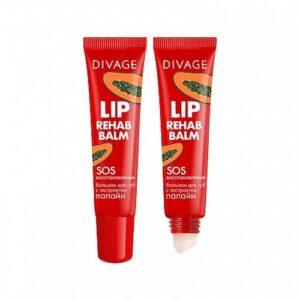 Бальзам для губ с экстрактом папайи Lip Rehab Balm Divage