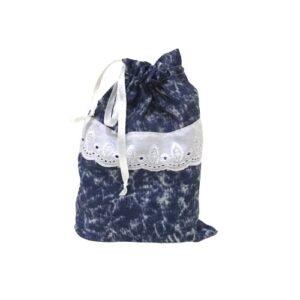 Мешочек для подарков текстильный рисунок «Джинс»