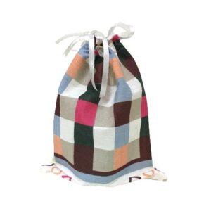 Мешочек для подарков текстильный рисунок «Клетка цветная»