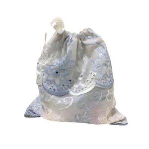 Мешочек для подарков текстильный рисунок «Вышивка»