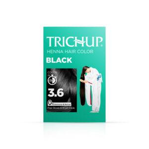 Краска для волос на основе хны тон №3.6 «Чёрный» Henna Trichup