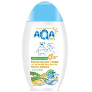 Молочко для лица и тела после загара детское AQA Baby