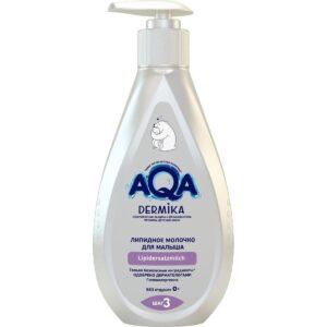Молочко для тела детское липидное AQA Dermika