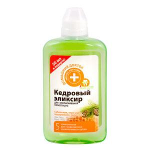 Эликсир для ополаскивания полости рта «Кедровый» «Домашний Доктор» / 300 мл