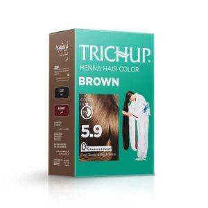 Краска для волос на основе хны тон №5.9 «Коричневый» Henna Trichup
