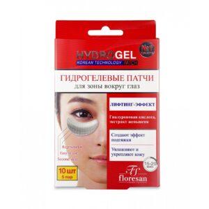 Патчи для глаз гидрогелевые «Лифтинг-эффект» HydroGel Floresan