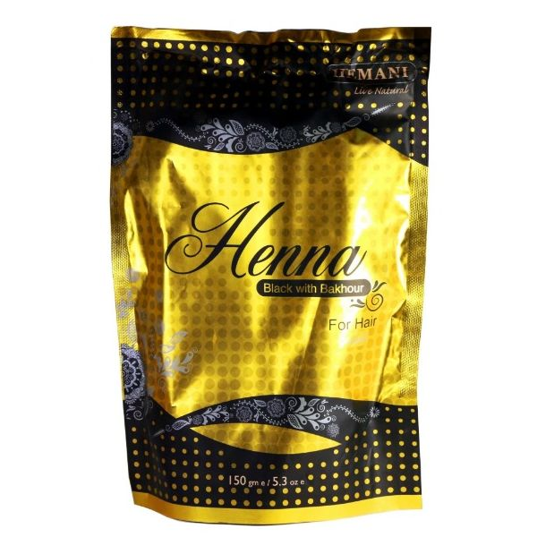Хна для волос натуральная с бахуром Black Henna Hemani