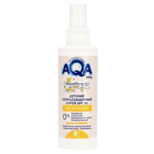 Спрей для лица и тела солнцезащитный детский AQA Baby