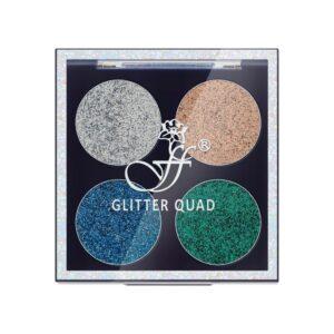 Тени для век с аппликатором Glitter Quad №2 FFleur