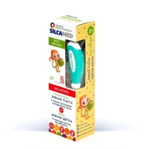 Набор для ухода за полостью рта cо вкусом яблока SilcaMed