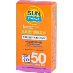 Крем для лица солнцезащитный против морщин и пигментных пятен Sun Energy