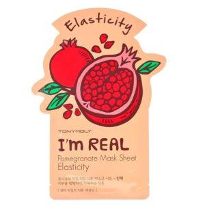 Маска для лица тканевая придающая эластичность с экстрактом граната Pomegranate I'm Real Tony Moly