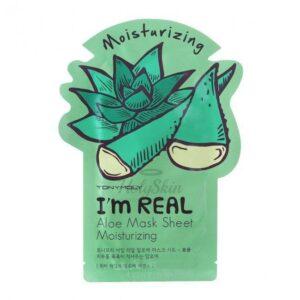 Маска для лица тканевая увлажняющая с экстрактом алоэ Aloe I'm Real Tony Moly