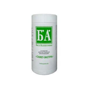 Салфетки для экстренной дезинфекции «Санет-Экстра» в тубе «БелАсептика»