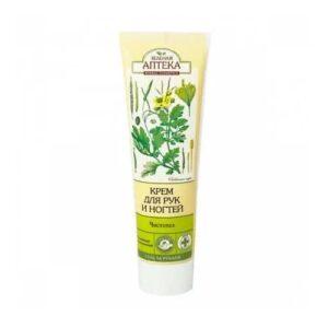 Крем для рук и ногтей «Чистотел и липовый цвет» «Зелёная Аптека»