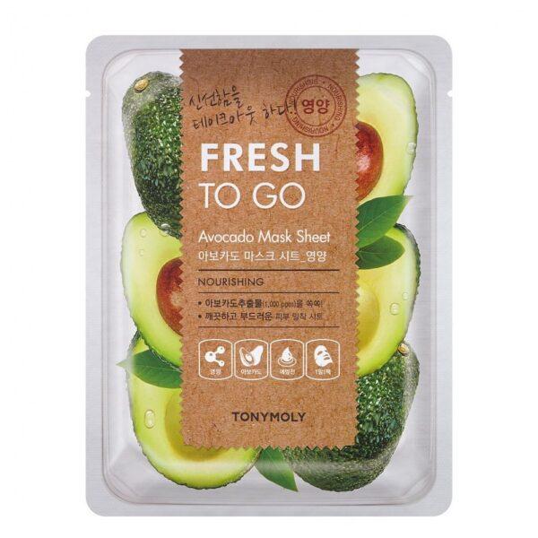 Маска для лица тканевая питательная с экстрактом авокадо Avocado Fresh To Go Tony Moly