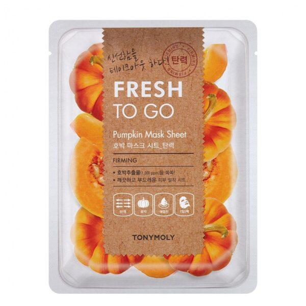 Маска для лица тканевая успокаивающая с экстрактом тыквы Pumpkin Fresh To Go Tony Moly