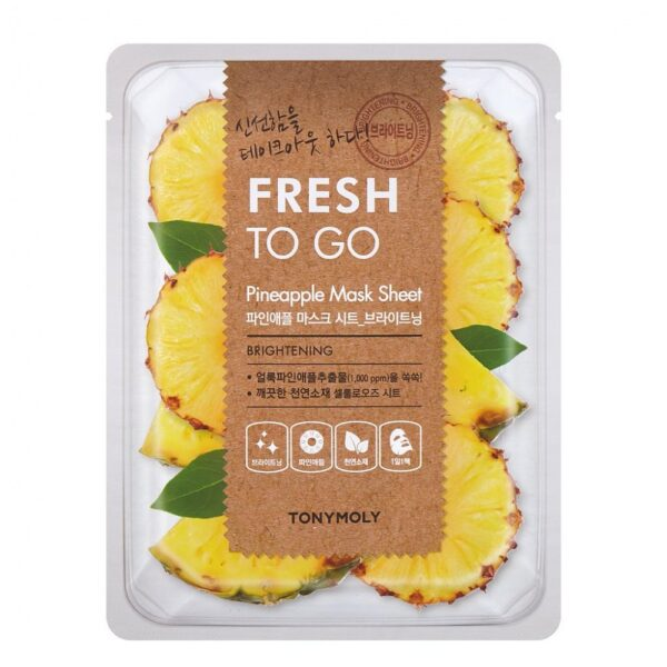 Маска для лица тканевая выравнивающая с экстрактом ананаса Pineapple Fresh To Go Tony Moly