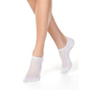 Носки женские хлопковые ультракороткие цвет «Светло-серый» Active Conte Elegant